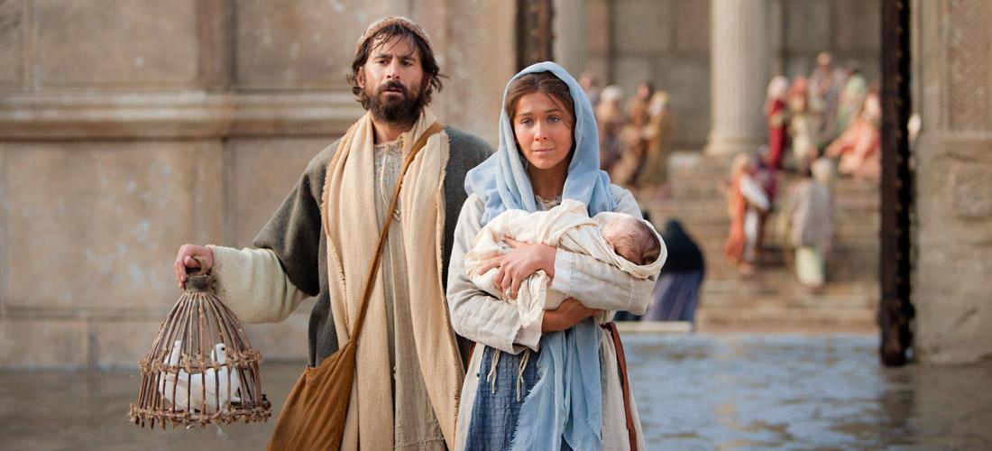 Jer ovako stoji napisano u Gospodnjem zakonu: »Svako muško prvorođenče neka bude posvećeno Gospodinu.«  I oni prinesoše žrtvu kao što je propisano u Gospodnjem zakonu: dvije grlice ili dva golubića.